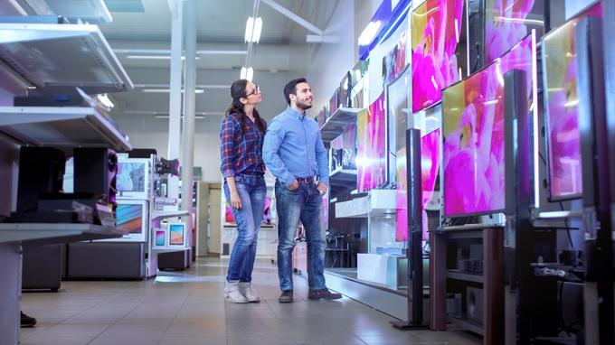 Telewizory w markecie