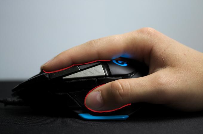 Najlepsza myszka gamingowa - fingertip grip