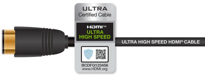 Przewód HDMI z certyfikatem Ultra High Speed