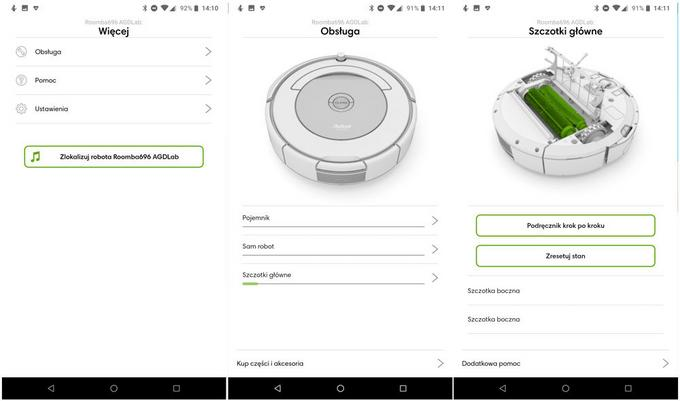 Aplikacja iRobot Home pozwala sterować robotem iRobot Roomba 696.