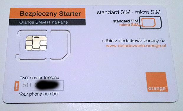 Starter internetu orange