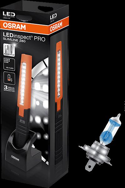 Latarka OSRAM LEDinspect PRO + żarówki OSRAM Night Breaker Laser H7