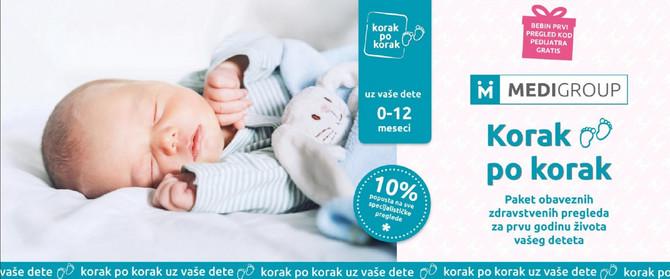 """Lakše je uz """"Korak po korak"""" u bebinoj prvoj godini života"""