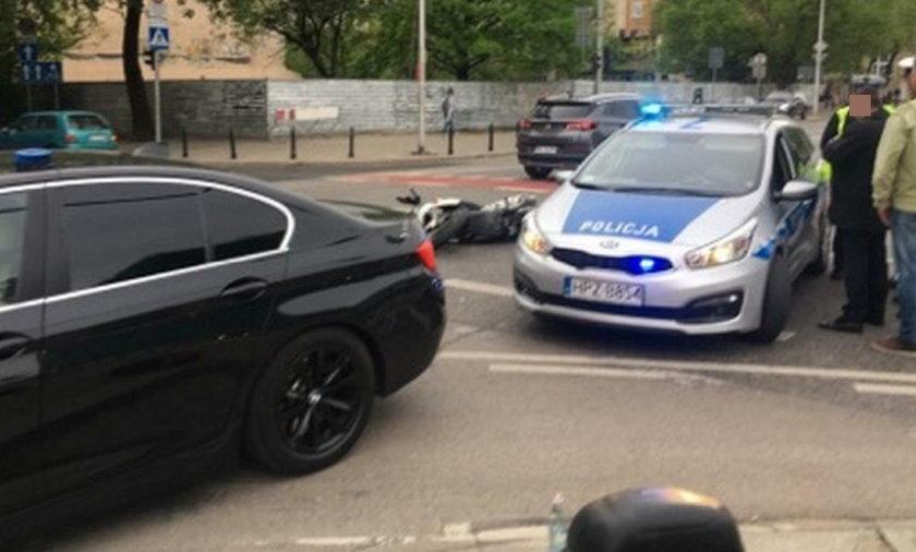 Zdarzenie na skrzyżowaniu ul. Dobrej z Zajęczą w Warszawie
