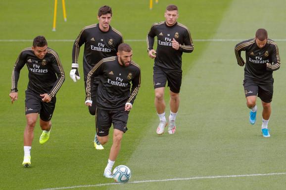 Detalj sa treninga Real Madrida