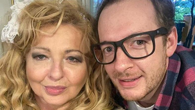 Magda Gessler z synem Tadeuszem Mullerem