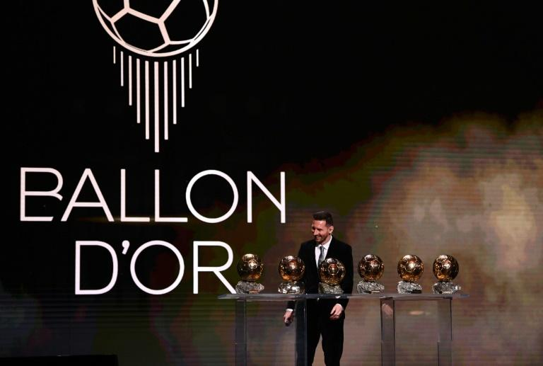 Lionel Messi was accompanied by his wife Antonella Roccuzzo their two oldest children, sons Thiago and Mateo, at the Ballon d'Or ceremony in