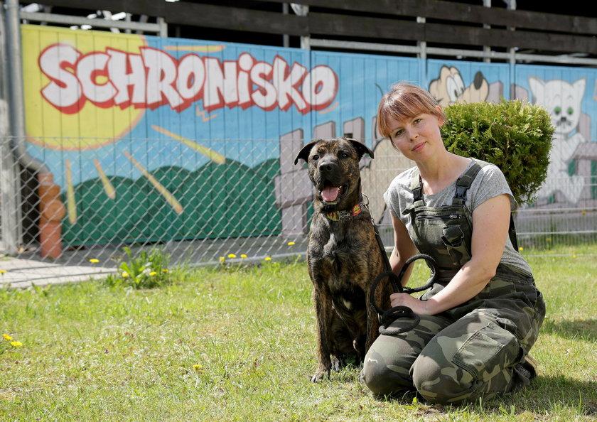 Beata Labudda z psem Hektorem