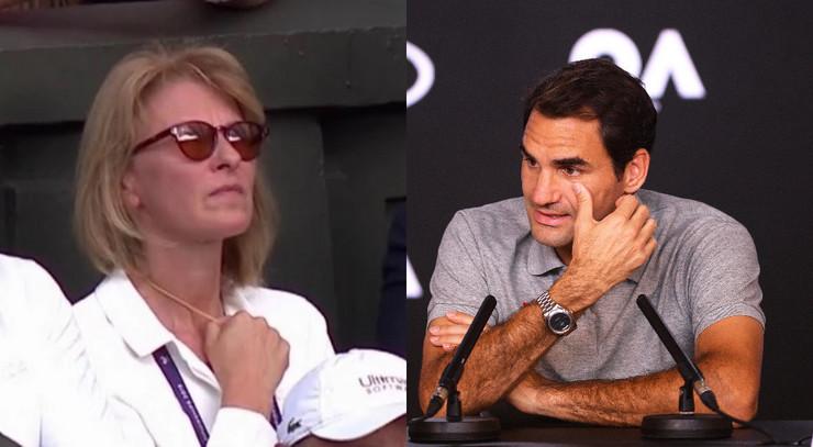 Dijana Đoković i Rodžer Federer