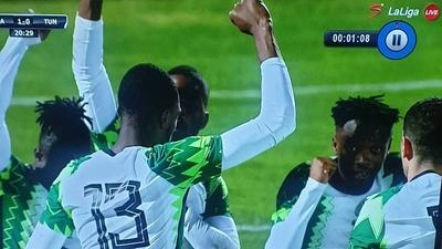 Super Eagles manage 1-1 draw with Tunisia and show solidarity with #ENDSars campaign