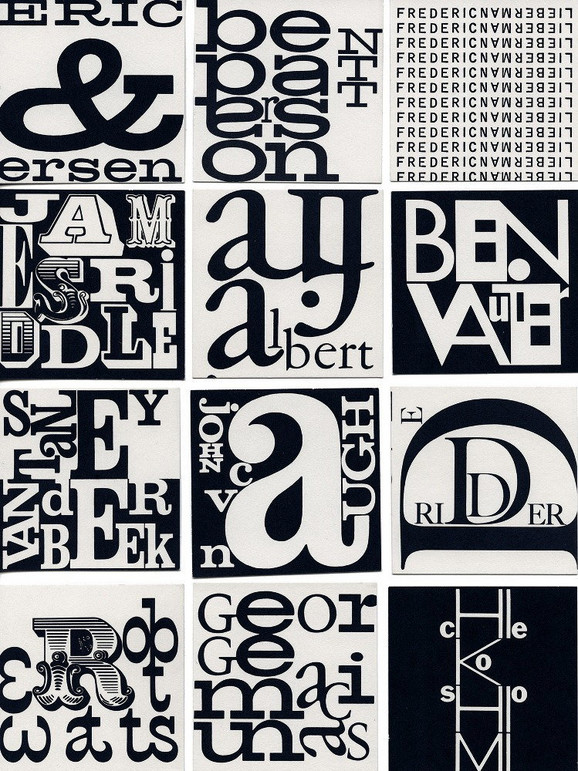Džordž Mekjunas, dizajn monograma za Fluksus udruženje, oko 1963/1966.