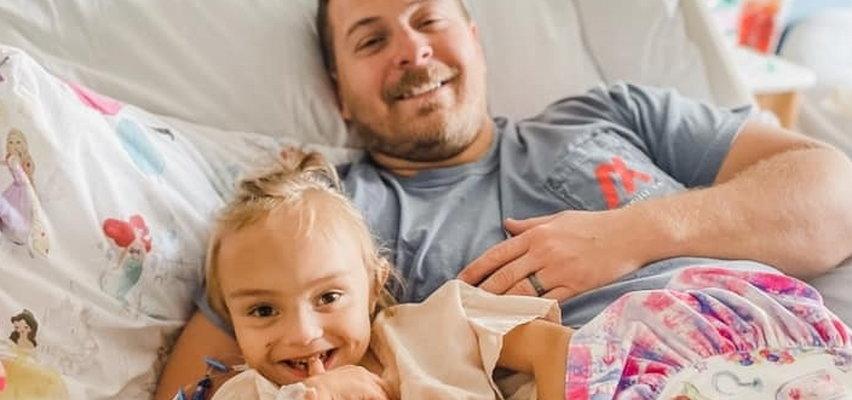 Ojciec oddał nerkę czteroletniej córce. Uratował jej życie