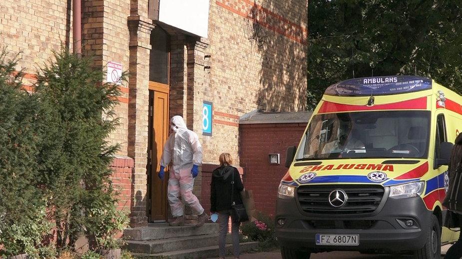 Oddział zakaźny szpitala w Gorzowie przy ul. Walczaka