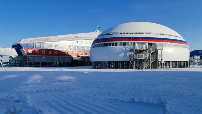 Zdjęcie rosyjskiej bazy wojskowej w Arktyce