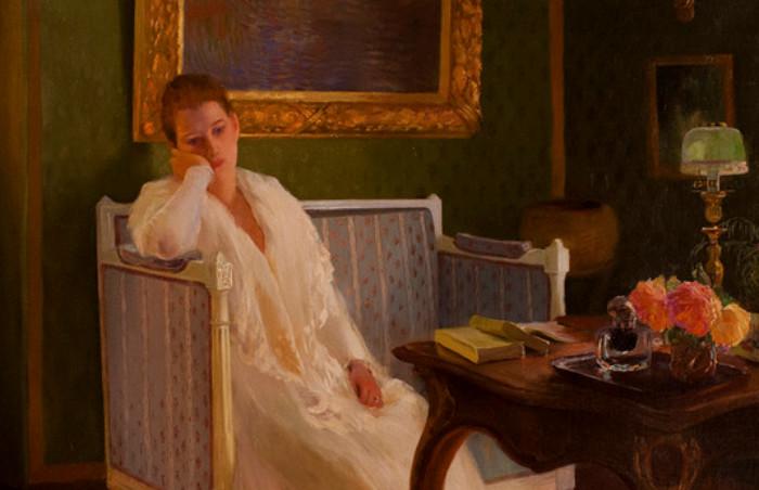 """""""Nuda"""" – obraz Gastona de La Touche'a, rok 1893. Fot. domena publiczna."""