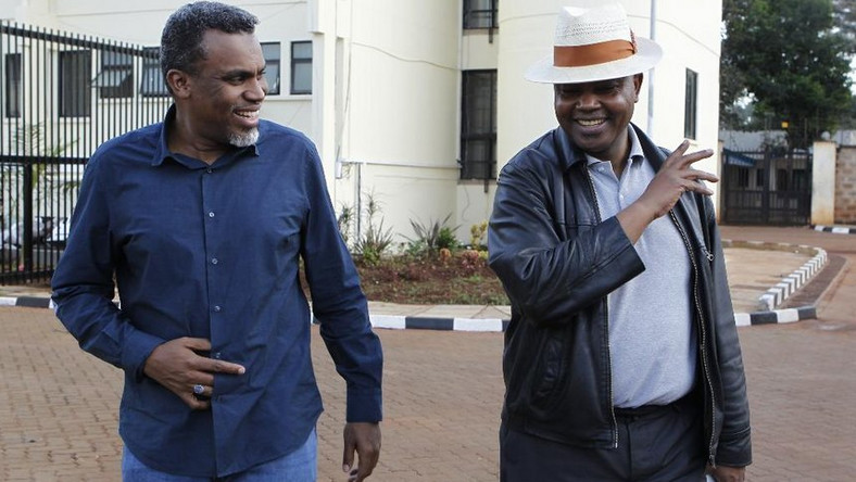 Director of Public Prosecutions Noordin Haji and Director of Criminal Investigations George Kinoti