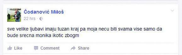Najavio zločin na Fejsbuku