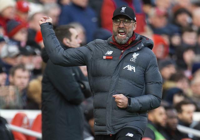 Jirgen Klop slavi gol Salaha protiv Votforda