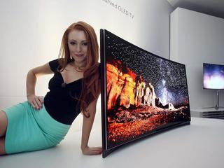 Sasmung OLED TV curved