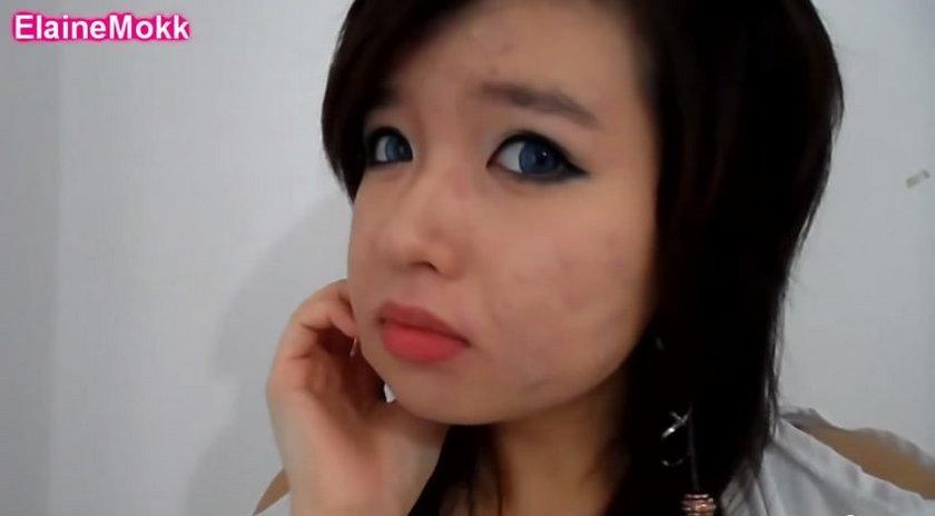 Tak wygląda po nałożeniu makijażu