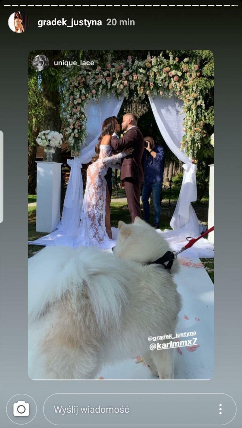 Justyna Gradek wzięła ślub