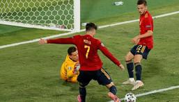 Alvaro Morata was in unconvincing form against Poland despite his opening goal Creator: Jose Manuel Vidal