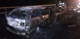 Horror koło Braniewa. 27-latek spłonął w aucie. Obok samochodu leżał martwy pies