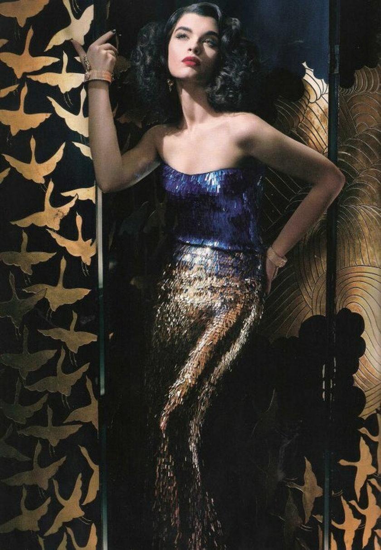 Crystal Renn w sesji dla Vogue Spain w 2011 roku