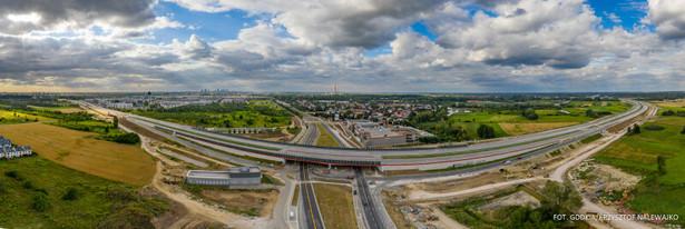 Budowa Południowej Obwodnicy Warszawy. Źródło: GDDKiA