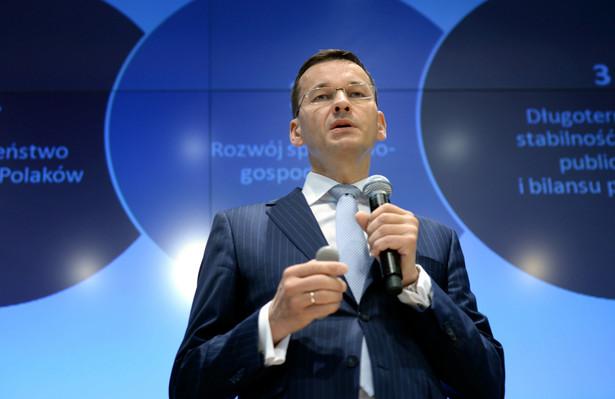 Wystąpienie premiera Morawieckiego uspokoiło nastroje na giełdzie