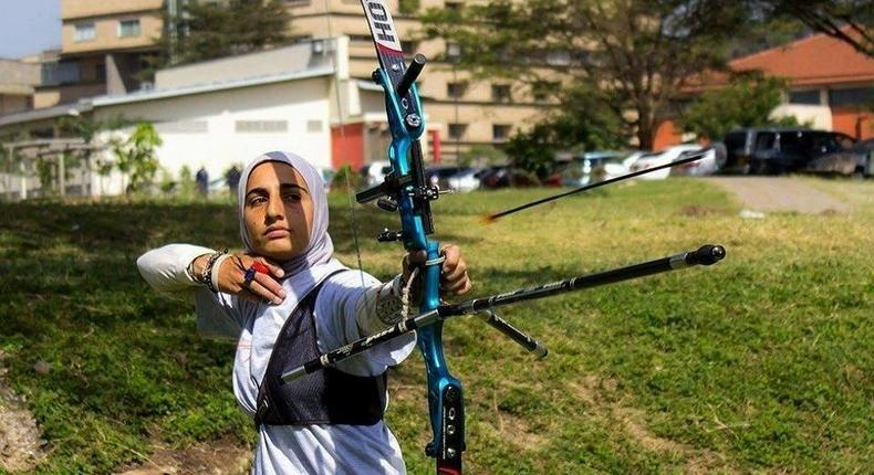 Shehzana Anwar was the only Kenyan archer in the Rio Olympics 2016.