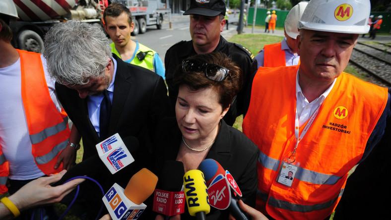 Na miejsce przyjechała prezydent Warszawy Hanna Gronkiewicz-Waltz