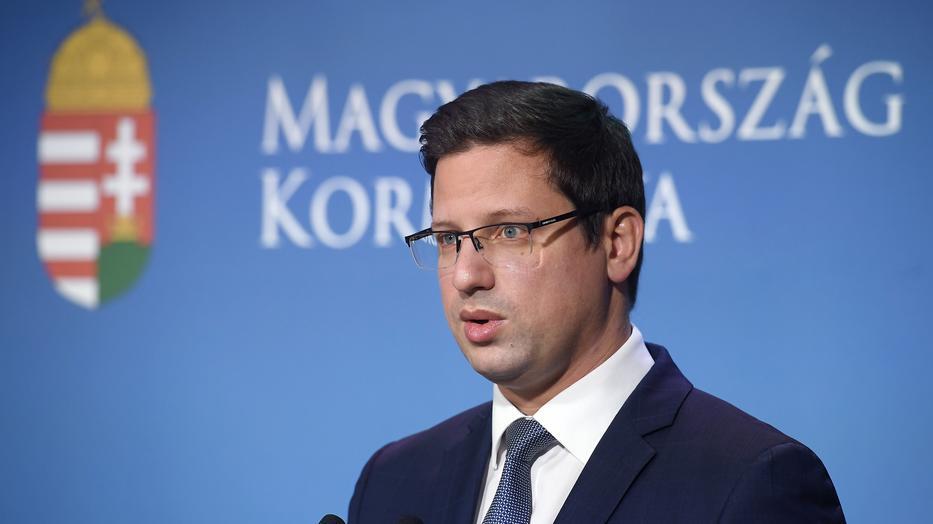 Gulyás Gergely Miniszterelnökséget vezető miniszter / Fotó: MTI/Kovács Tamás
