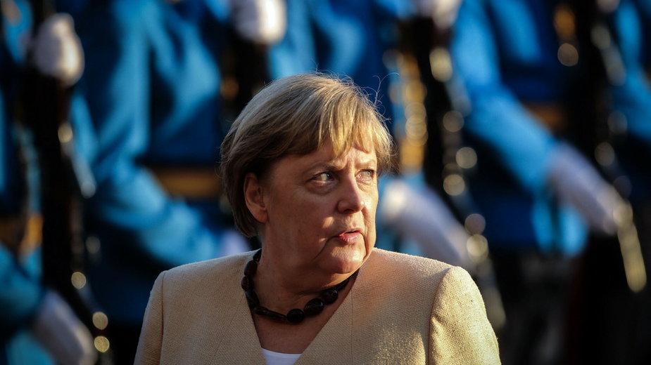 Angela Merkel podczas wizyty na Bałkanach
