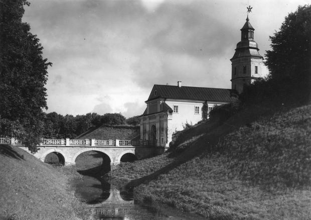 Pałac Radziwiłłów w Nieświeżu, lata 20. XX wieku.