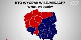Kto wygrał wybory do sejmików? Zobacz mapę