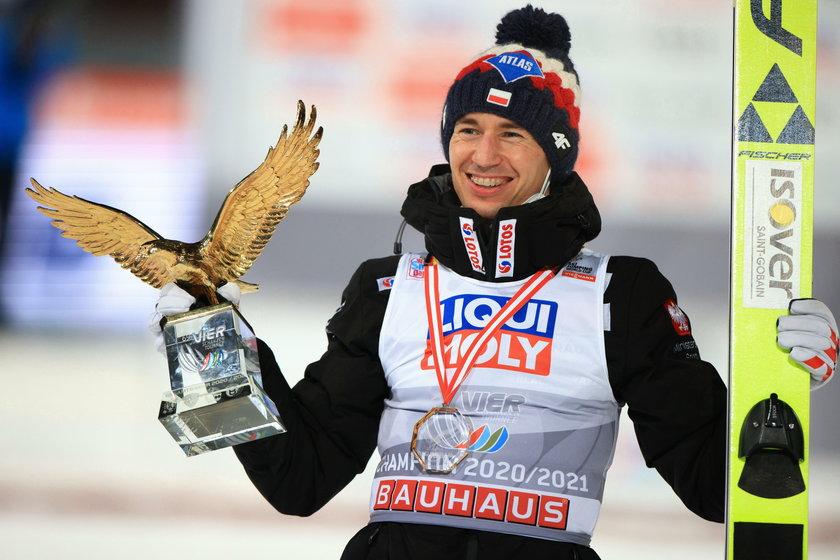 Kamil Stoch w tym sezonie wygrał m.in. Turniej Czterech Skoczni