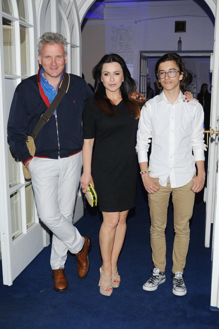 Beata Tadla z synem i Kretem
