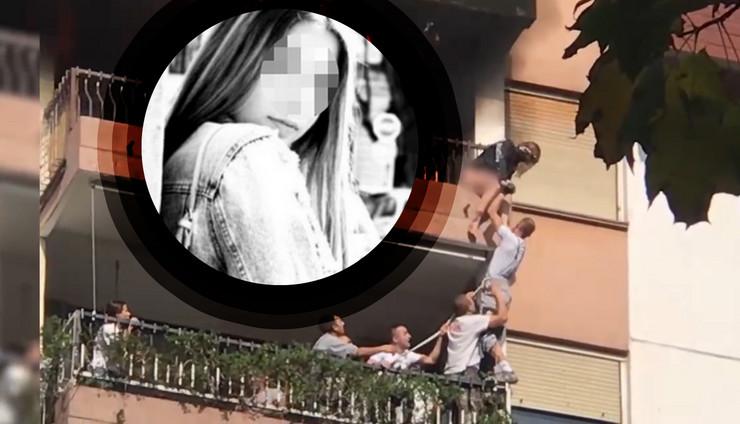 dorcol pozar devojka KOMBO RAS Privatna arhiva, Blic TV