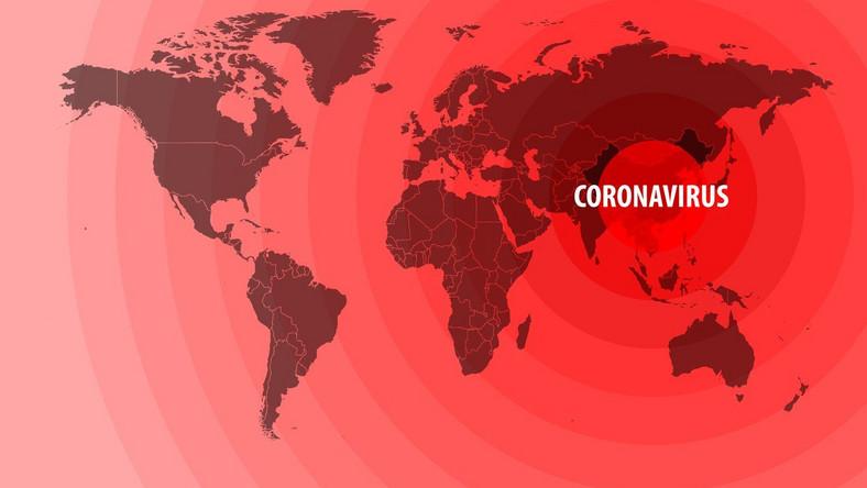 Koronawirus, mapa świata