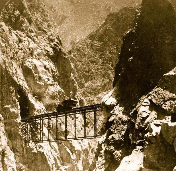 Wiadukt kolejowy El Infiernillo, Peru, 1908r.