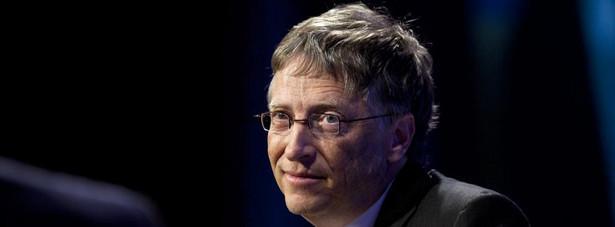 Bill Gates, prezes Microsoft Corporation, przemawia w Economic Club of Washington, DC, Waszyngton, DC, USA