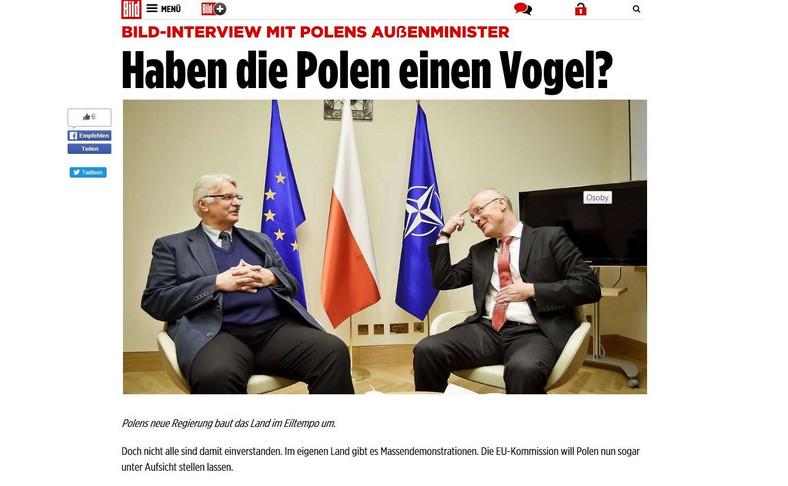 """Wywiad z Witoldem Waszczykowskim w niemieckim dzienniku """"Bild"""""""