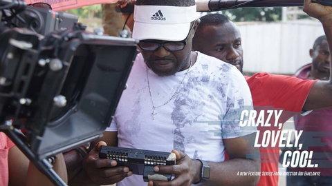 Obi Emelonye on the set of 'Crazy, Lovely, Cool' , shot in the University of Nigeria, Nsukka [Instagram/@obiemelonye]