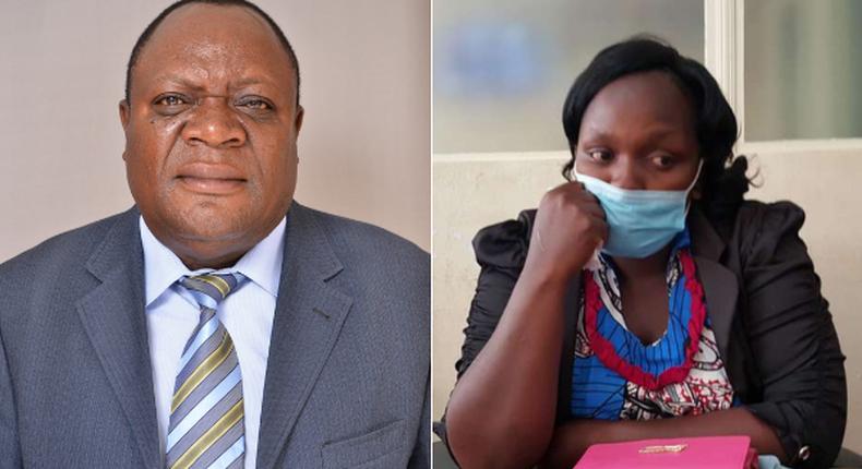 The late Matungu MP Justus Murunga and Agnes Wangui Wambiri who claims Murunga fathered her two children