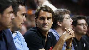 Federer na meczu Miami Heat