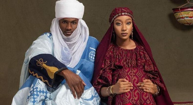 Pre-wedding photo of Yusuf Buhari and Zahra Bayero (Daily Trust)
