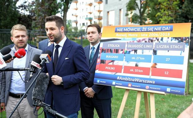 Szef sztabu kandydata Zjednoczonej Prawicy na prezydenta Warszawy Oliwer Kubicki poinformował w czwartek PAP, że Michał Szpądrowski został wykluczony ze sztabu Patryka Jakiego