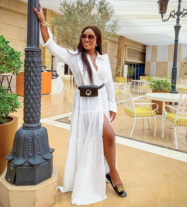 Ghanaian actress, Jackie Appiah dresses down stylishly while on vacation
