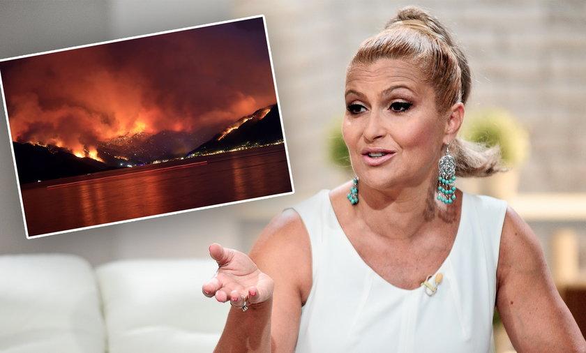 Katarzyna Skrzynecka o pożarach w Turcji. Ostro krytykuje turystów.